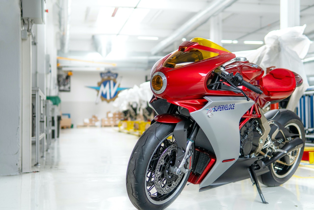MV Agusta Superveloce Serie Oro with Factory background