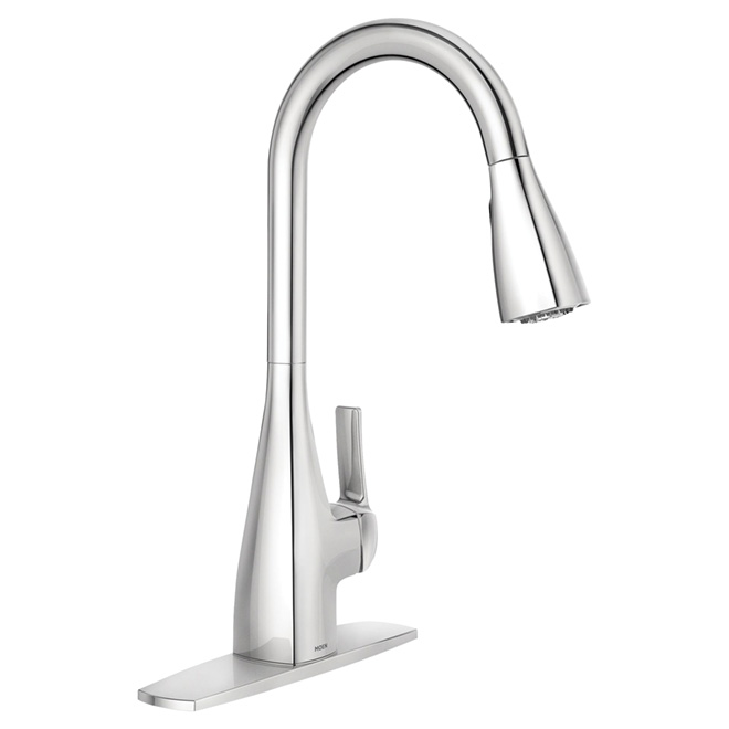 kitchen faucet with lever kiran chrome