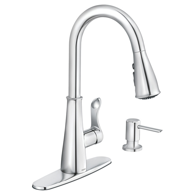 hadley pull down kitchen faucet chrome