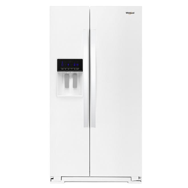 refrigerateur avec distributeur d eau glacons 28 pi blanc