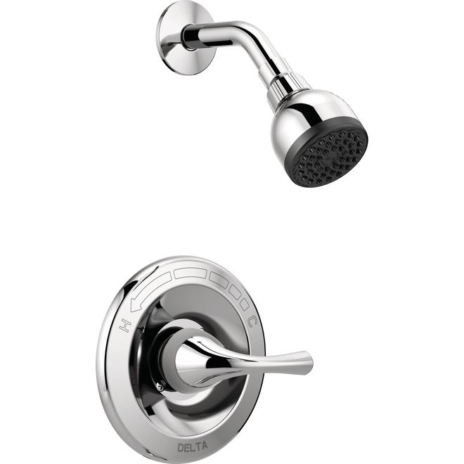 delta principals chrome 1 handle shower faucet with valve