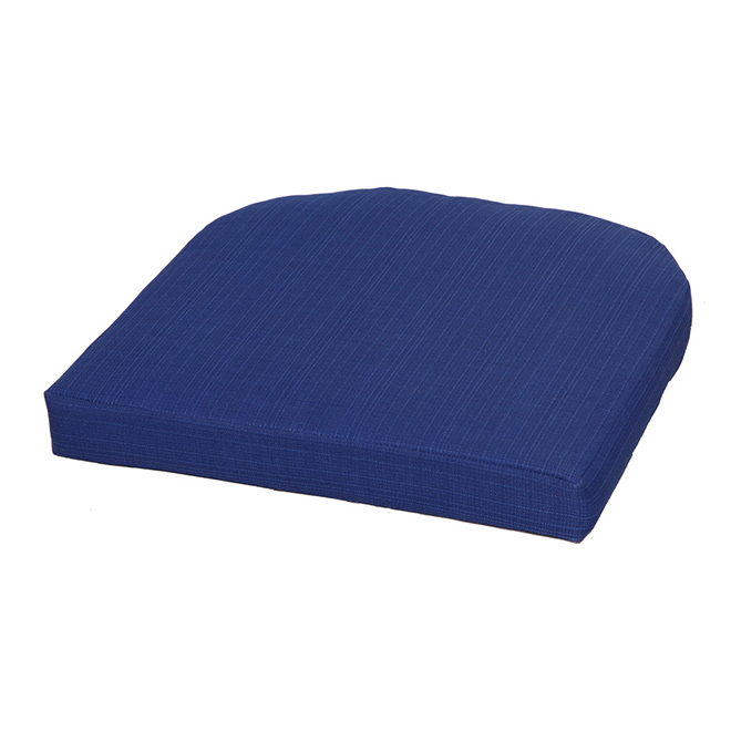 coussin pour siege exterieur style selections polyester bleu marine