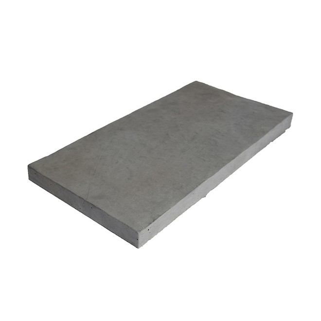 patio drummond slate style patio stone 12 in x 24 in grey