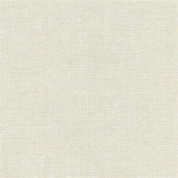papier peint gabardine en lin blanc casse