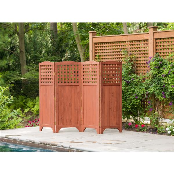 ecran d intimite pliable de jardin 95 x 64 cedre brun