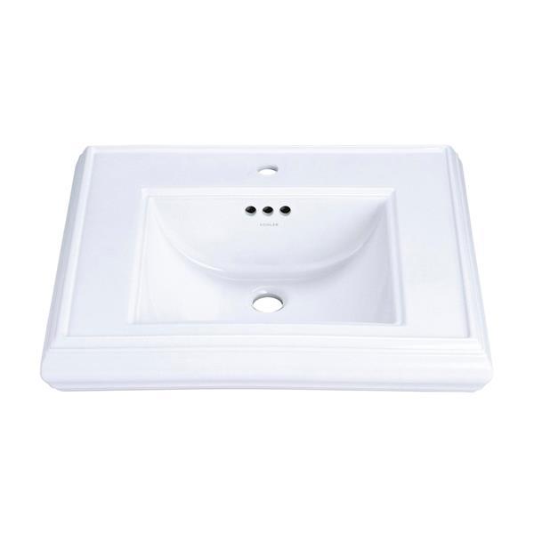 kohler memoirs pedestal bathroom sink basin 30 7 in white