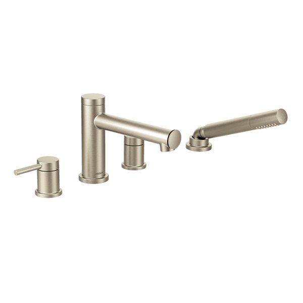 moen align diverter roman tub faucet with hand shower brushed nickel valve sold separately