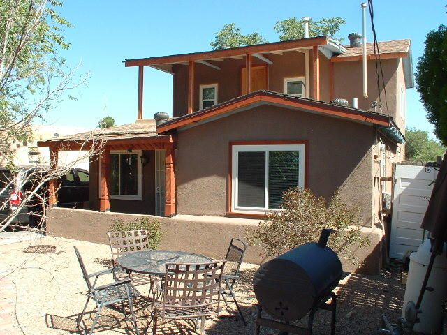 Great North Valley home!  Windows, stucco, facia, fence and refrigerated air have all been recently updated.  Big bedroom upstairs that opens to a balcony in the front, large backyard, two living areas.  Cute house!