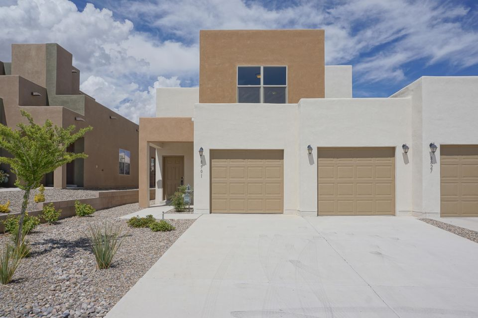 PRICE REDUCED. The instant you walk through the front door, you will be wowed by the spacious great room of this brand new home in the community of Stormcloud.  This beautiful home features three bedrooms, two and a half baths, tons of storage space, a very large laundry room plus a two-car garage.  The home has been built to Build New Mexico Silver Certified specifications which will save the new home owner in utilities. Come see this NEVER LIVED IN home and make it yours today!