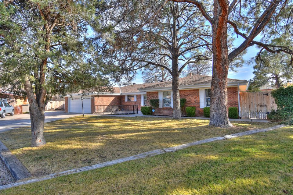 Highly desired Thomas Village Estates. All brick single story home in a quiet cul-de-sac. Brand new remodeled bathrooms. Large backyard with mature trees. Back yard access with a huge side yard. Brand new seamless gutters and fascia. Walking distance to the Bosque.