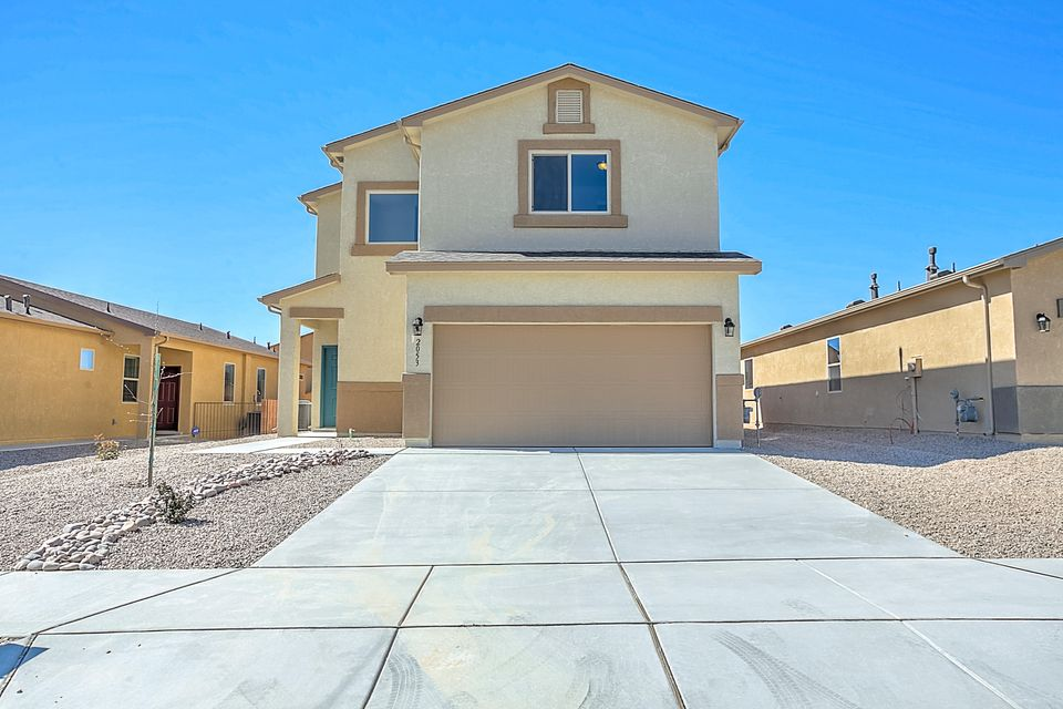 Newly completed Express Homes 'Reveille' plan. This home features 3 upstairs bedrooms, open loft, walk in kitchen pantry, granite kitchen tops, and great backyard space. Located in the V. Sue Cleveland High School district. Minutes away from shopping, restaurants and movie theater.  Come view today!