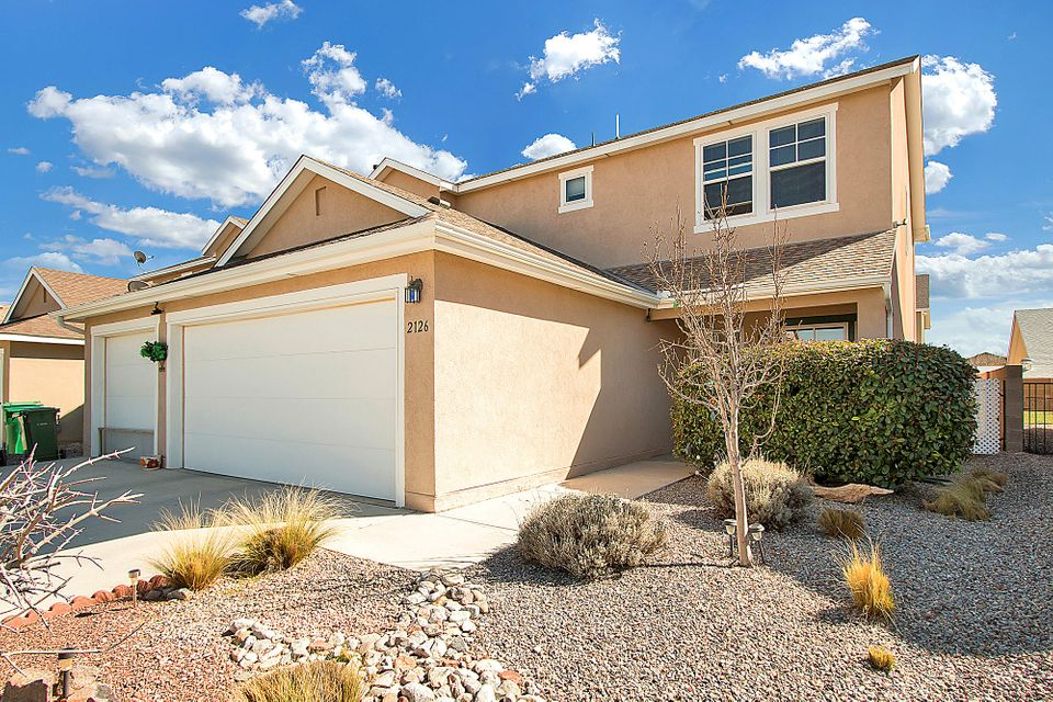Inspections complete, repairs made, move-in ready.  Wonderful, roomy family home in a great central Rio Rancho location. Two living areas, 4 bedrooms and 3 baths - open floor plan.  Energy efficient heating and refrigerated air system by Artistic Home Builders. Nice upgrades by original owner.  Pride of ownership shows throughout. Partial mountain views from the rear patio. 3-car garage. Nearby dining, shopping, and churches, and Rust Medical Center minutes away. Great schools and nearby parks.  Central Rio Rancho at its best!