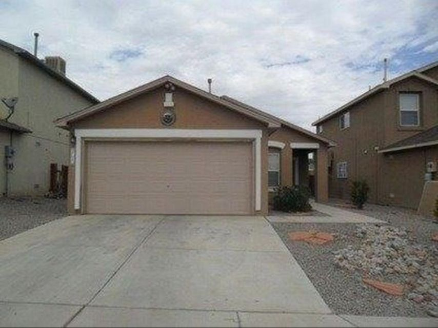 This charming one story home offers buyers a great opportunity in Southwest Albuquerque.  This 3 bedroom 2 full bath 2 car garage home offers a cozy floor plan with a large living area and master bedroom separated from the other two bedrooms.  Easy access to freeway and shopping.  Come see your future home TODAY!
