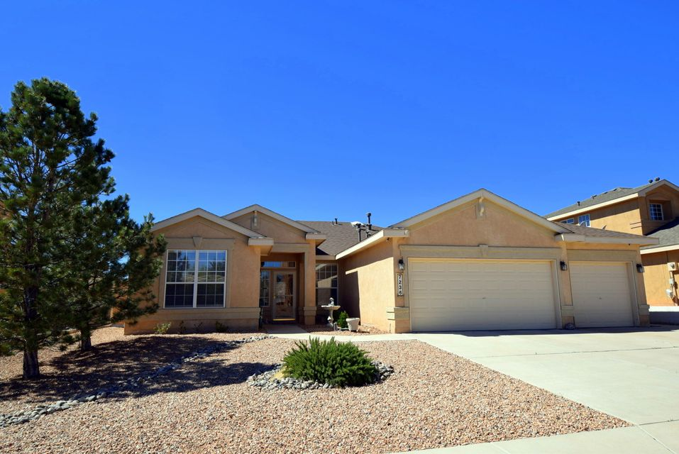 Beautiful one level 4 bedroom home!  Extremely well maintained and gently lived in, this home has so much.  4 bedrooms, 3 car garage, tons of storage space including 2 pantries and large closets in all bedrooms.  The open floorplan with its 10' ceilings is perfect for entertaining or just relaxing.  The backyard has new landscaping, a large patio area and mountain views!  The refrigerator, brand new dishwasher, water softener, surround sound speakers and storage shed all stay!