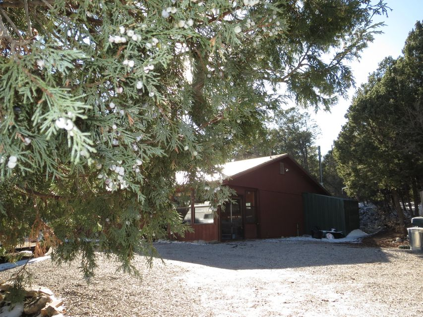 Private Oasis with this adorable 3 BR 2 Ba Casa*Open Floor pl*Well maintained*many newer amenities*Sunny sunroom/entry leading to Spacious Living Area with Vaulted Ceilings*Delightful Open Country Kitchen with dining space or breakfast nook*Wonderful spacious private Master Suite with Bath*surrounded by soothing wooded views*Two additional bedrooms for guests or perfect for an office.  Tall trees provide seclusion and privacy in the awesome long patio and backyard area all redone with river rock and wonderful retaining walls for privacy.  Exceptionally maintained and lovingly cared for*Near hiking*Riding*Biking Trails*Speaks of Mountain Serenity with good access*Country Living at its finest! Water System! Minutes to town or amenities nearby! Greenhouse*artist studio and plenty of storage!