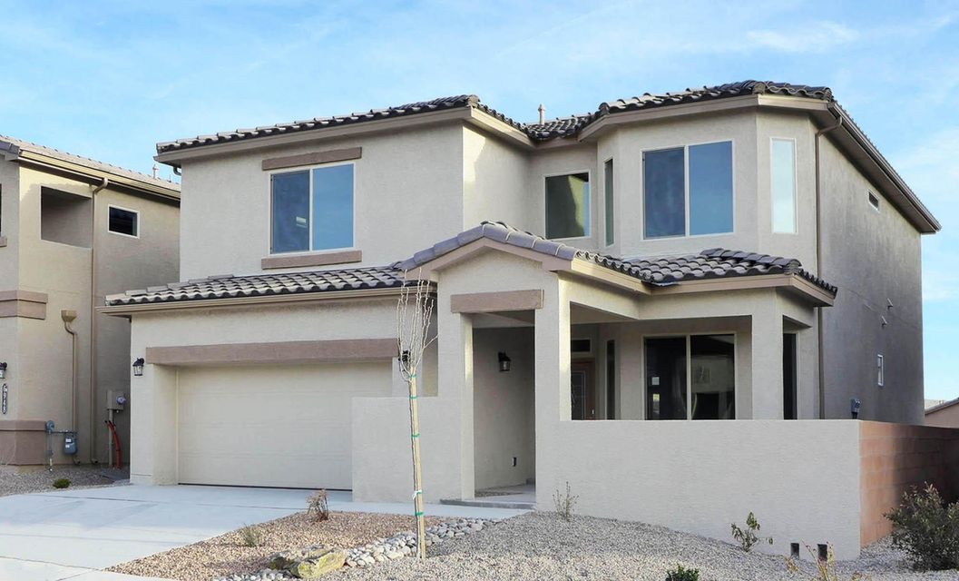 This Brand-New 'Erickson' Plan by D.R. Horton near the Volcano Vista High School in the Trails Planned Community Will Delight You, Impressive and Bright 2-Story Living with 4 Bedrooms, 2.5 Baths, Plus a Study, Stainless Gas Range, Microwave and Dishwasher Included, Chef's Kitchen with Granite Counters, Island with Bar-Top is Open to Dining and Living, Contemporary Upgraded Cabinetry with Crown Molding, The Master Suite Provides a Large Tiled Shower, Super Closets with Extra Wood Shelves and Shoe Rack, Upgraded Ceramic Tile Flooring In All Wet Areas, Covered Rear Patio for Fun and Entertaining, Refrigerated Air Conditioning, Tankless Water Heater, Attractive Concrete Tile Roof, Delightful Front Courtyard That Can Be Gated, Green-Built Certified For Excellent Energy Savings. Move-In-Ready!