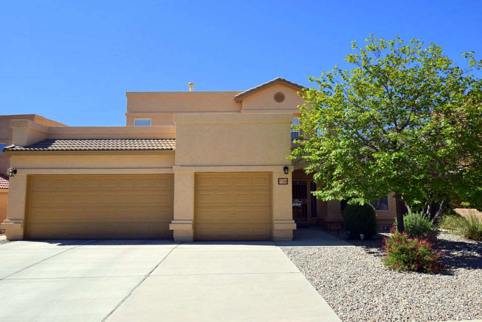 Wow! The 1-owner, pride-of-ownership, 100% move-in-ready home you've been looking for.  1 couple since new.  Look at the  BR sizes!  Large master suite + separate office on ground level. 2 more BRs + loft (exercise/TV room) on upper level.  Gourmet kitchen with Corian counters, tile back splashes, tall custom cabinets, & quality stainless  appliances.  All appliances convey, incl W&D.  Formal dining room currently houses grand piano.  Too many extras & options to list.  Recent HWH, 4 ceiling fans & high end water softener.  Storage space galore.  Family friendly & flexible floor plan.  An entertainer's delight.  Low maint back yard & large patio area are ideal for outdoor living.   Mountain & city views, too!  So convenient to all 3 high demand schools, & fast access to Paseo Del Norte.