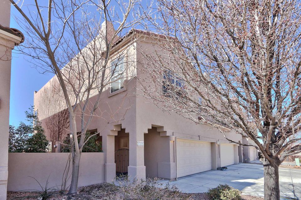 Fabulous Home in Sparkling Condition with Open Living/Dining, Refrigerated Air, Mountain Views from the Comfort of Your Bed, & Quiet Cul-De-Sac Location! Centrally Located in a Nice, Newer Community with No HOA, & Easy Access to Main Thoroughfares, Shopping, & Dining. Well placed in the Double Eagle/Desert Ridge/La Cueva School Districts. Beautifully Tiled Flooring in the Main Living/Dining Areas & Baths provide Luxurious Ambiance & Easy Care. Cozy Carpeting in the Bedrooms. Spacious Master Suite with Large Closet & room for a Sitting Area to Enjoy the Mountain Views. Laundry Conveniently Located upstairs with the Bedrooms. Low Maintenance yet Tasteful Landscaping adorns the Front Courtyard & Back Patio. All Appliances Convey so Nothing to do but Move In!