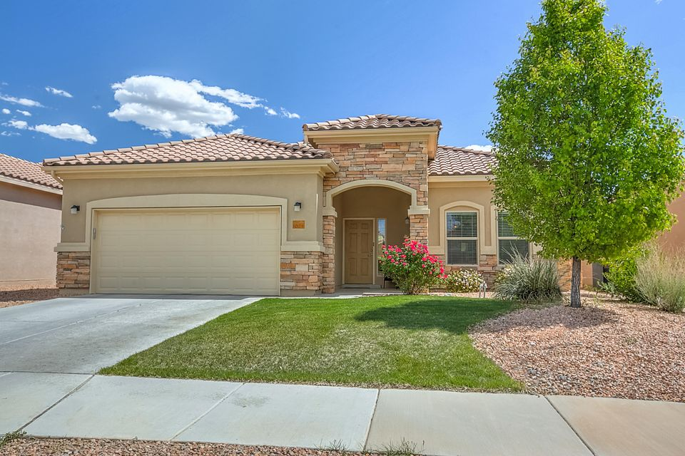 Welcome home to this stunning 1 story Taos model home in the desirable Del Webb Alegria community. Open floorplan w/ cooks kitchen open to great room & formal dining area neutral colors throughout. LIght and bright w/ lots of designer touches - oversized tile floors, granite countertops in the kitchen w/ upgraded gas range & sunny breakfast nook!  Sumptuous master suite w/ gorgeous master bath w/ double sink vanity &large tiled shower & spacious walk in closet. Generously sized guest room w/ adjoining guest bath. Separate study/ office with built in bookshelves.  Protected covered patio (SE facing) with professionally designed and installed backyard landscaping w/ moss rock wall & open concrete patio.  Solar panels that convey w/ the home keep utility bills to a minimum.  This one is a 10!