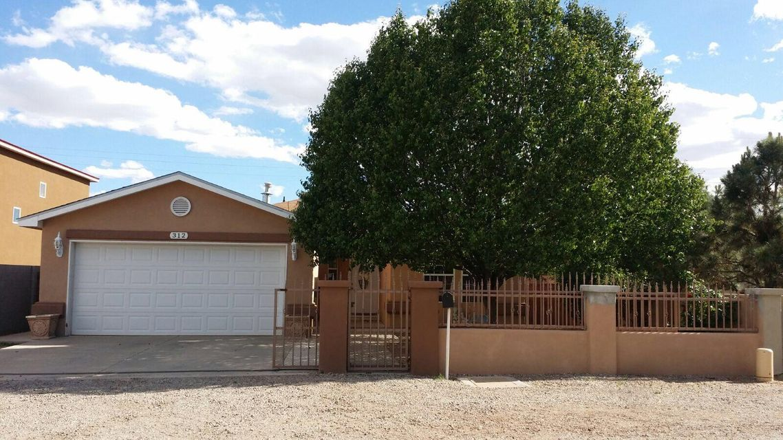 Nice home in the heart of the north valley.Nice view to the Sandia Mnts.Spacious Kitchen with granite counters, huge great room with dining/living combo.Custom tile through-out,Marble in both bathrooms.Great Access to I-25.Nearby parks and walking paths.