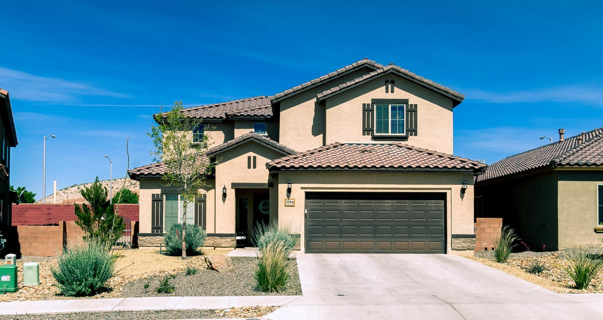 Nice home in beautiful Loma Colorado subdivision. Popular, versatile Saphire floorplan w/ lots of upgrades. Plenty of room for everyone w/ great room, office, loft and game room plus 5 bedrooms and 4 baths. Main living area has 18'' tile, gas log fireplace, ceiling fan, access to breakfast bar. Large kitchen offers family dining room, island, granite counter tops and mosaic tile,  backsplash, expresso cabinets, walk-in pantry, stainless steel appliances including gas stove/oven and built-in microwave. Master suite, office, laundry and 1/2 bath also on main floor. Four bedrooms all w/ walk-in closets, two full baths, small loft and game room upstairs. Refrigerated A/C. Tandem 3 car garage. Large walled backyard with grass, covered patio. Soccer fields and aquatics center behind property.