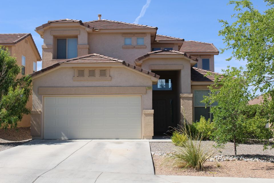 This beautiful 2 story home features 3 large bedrooms with walk in closets, beautiful laminate flooring downstairs, a large loft upstairs and a fully landscaped backyard that is great for entertaining. This home is located in Cabezon and is close to restaurants, great parks and walking trails. This home has been well maintained and is in great condition.