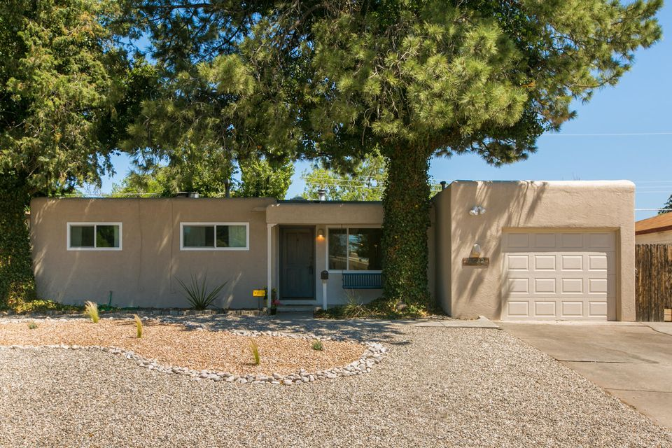 This Mid Century Roberson has full pride of ownership with many important updates. Home converted to Refrigerated Air with warranty & New this year Stainless Steel Whirlpool Refrigerator.  In the last 3 years home has had carpet, new windows, tile in the entry & updated paint colors last months.  Best floor plan with kitchen open to the dining & family room.  2 fireplaces; Kiva in family room which opens to Lovely Covered Patio for dining alfresco. Kitchen has quartz countertops, stainless steel & new door from laundry room.    Neat hot tub on raised deck for relaxing under the stars.  Backyard has Shed; grapevines going strong & veggie bed started.  Pretty remodel in hall bath.This mid-city location has so many things going on; close to grocery shopping, community banking, wonderful loc