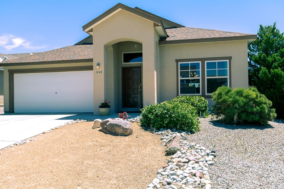 Beautiful move in ready home located in the highly desireable Cabezon community. Excellent location close to shopping, restaurants, community parks, community pool and schools! Very well maintained and clean. This home boasts bright open floor plan perfect for gatherings complete with 2 separate living areas. Many updates and upgrades throughout to include new flooring, backsplash and water softener. The huge centralized kitchen is a chefs delight with tons of cabinet space a breakfast bar and large cooks island. Low maintenance backyard complete with a tranquil water feature. Come have a look for yourself you will be happy you did.