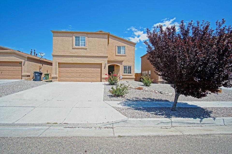 Back on the Market!!! Loan Fell Through. Inspections complete and FHA appraisal complete. This North East Rio Rancho Beauty is located minutes away from dining, shopping, and entertainment. Feel right at home the moment you enter while enjoying the spacious living areas that is open to the kitchen  making it great for entertaining your guests. Home features four spacious bedrooms upstairs, two full baths upstairs, and half bath downstairs. Home comes with a large loft, and large backyard. Don't wait as this home won't last!
