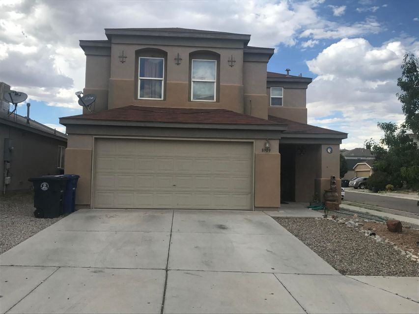 This Charming 4 Bedroom, 2 1/2 Bath is waiting for a New owner. Open floor plan, with Tile and Carpet thru-out. Very well maintained with lots of room for a growing Family. Large back yard, sits on a corner lot with possible back yard access. Bring all offers!!