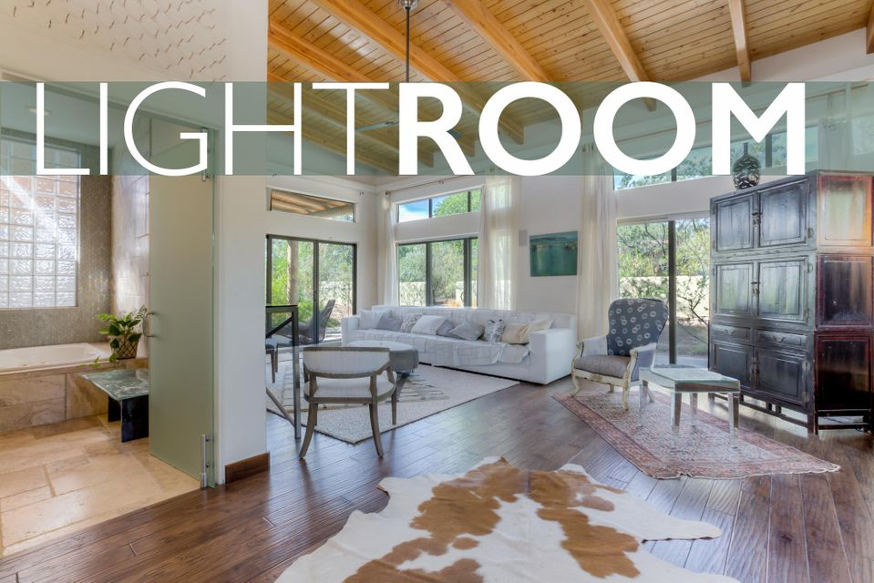 Exquisite Designer Dream Home. Spacious, light-filled open living. 2567sf 2BR Main + Full Guest House + Studio on 1/2 Acre = Room to Spread Out! Rebuilt in 2008 w/many Green features: Low VOC Paint, Hickory Floors, Reclaimed Wood Counters & Benches. Unique Glass Doors & Hardware. Variance plastered walls, recycled glass tile. 2 swamps + forced air, hot water solar panel, passive solar blower & a wood stove. Linear & LED lighting. 4-zone speaker system  Built-in TV w/Wifi surround + a low volt Sec. System. Custom Birch cabinets w/Euro-hardware. Fire-torched black granite counters & sandblasted island. 2 Fridges, gas cooktop + GE stackable W/D. Ample exterior storage. Extensive mature xeriscaping w/grey water irrigation, gardens & grape vines. 2017 New Septic & Elastomeric Roof.
