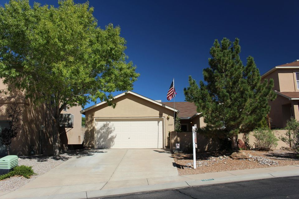 Call immediately to take advantage of price change and incentives. Seller is offering $5000. in flooring/paint OR closing costs allowance. This 3 bdrm 2 bath single story home is located near walking trails in Tramway Heights. Mountain views from the front courtyard.This beautiful home is close to shopping, dining, recreationand walking/hiking trails. Enjoy lovely mountains views fromyour cozy front courtyard. Private walled backyard withcovered patio makes for great outdoor entertaining.