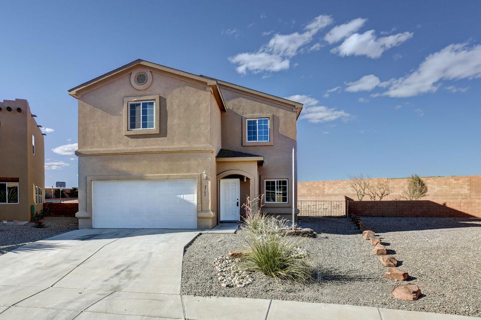 Move in Ready!! New Paint, New Carpet, New Stainless Steel Appliances, New fixtures, New tile back splash, Huge back yard, refrigerated air.  Open floor plan with loft.