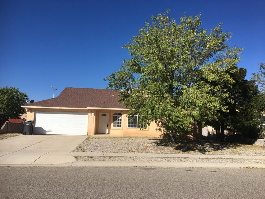 This Single Family Residence is located  in Enchanted Hills, just outside Bernalillo in Northern Rio Rancho.  The area is growing and has ample shopping, restaurants and is centrally located close to I25 and Hwy 550.  Great Floorplan, Large lot .21 acre. 3Bd 2Ba  2Cg 1380 sq. ft. perfectly sized ranch style home.  Corporate Owned property.  This property has been placed in an upcoming auction event 11/18/17