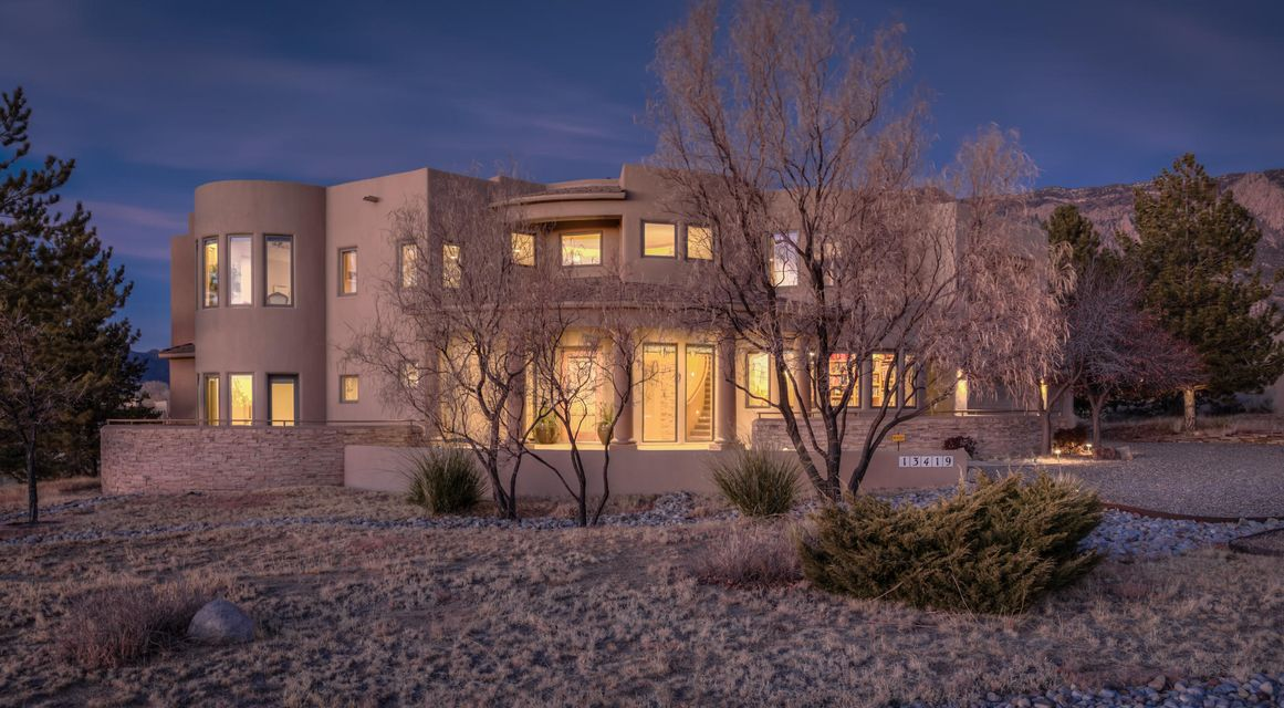 Award winning builder, Kaltenbach, has captured every view conceivable. Home is alive with vistas from inside & out, upstairs & down. Attention to detail in design & construction. Starting w/grand two story foyer w/Anasazi stone, columns & stained glass. Numerous areas for displaying art work. Entertaining is a breeze. Roomy well-appointed gourmet kitchen with tons of counter space. Unique round island, breakfast bar plus dinette which flows beautifully to yard. Check out views from private yard as well as upstairs deck. Enjoy the sunrises and sunsets.Two master suites-one up, one down. Private office away from living areas. Work area in roomy three car garage with built in tool boxes. office away Well appointed Wine cellar.Special Financing Incentives available on this property from