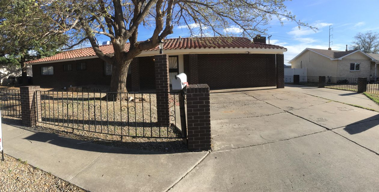 Wonderfully maintained gem in the Gutierrez subdivision near Wyoming and Montgomery, huge lot, 3 bedrooms plus an in-law qtrs with an 3/4bth and fireplace. Large parking area pitched tile roof and storage shed. Brick veneered front and low maintenance front yard. Light and bright with newer tile flooring throughout. New water/sewer line with a 10yr warranty.