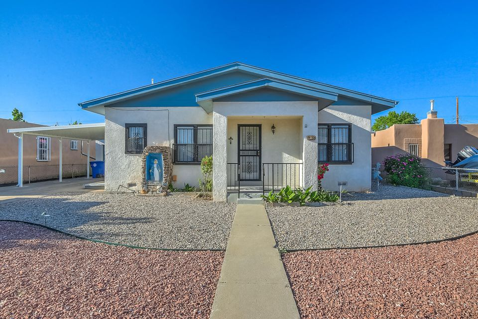 Charming North Valley Home located in La Luz. Home Features - 4 bedrooms, living room and dining area and updated furnace. Covered carport area, 1 car detached garage, detached workshop with electric and spacious backyard.