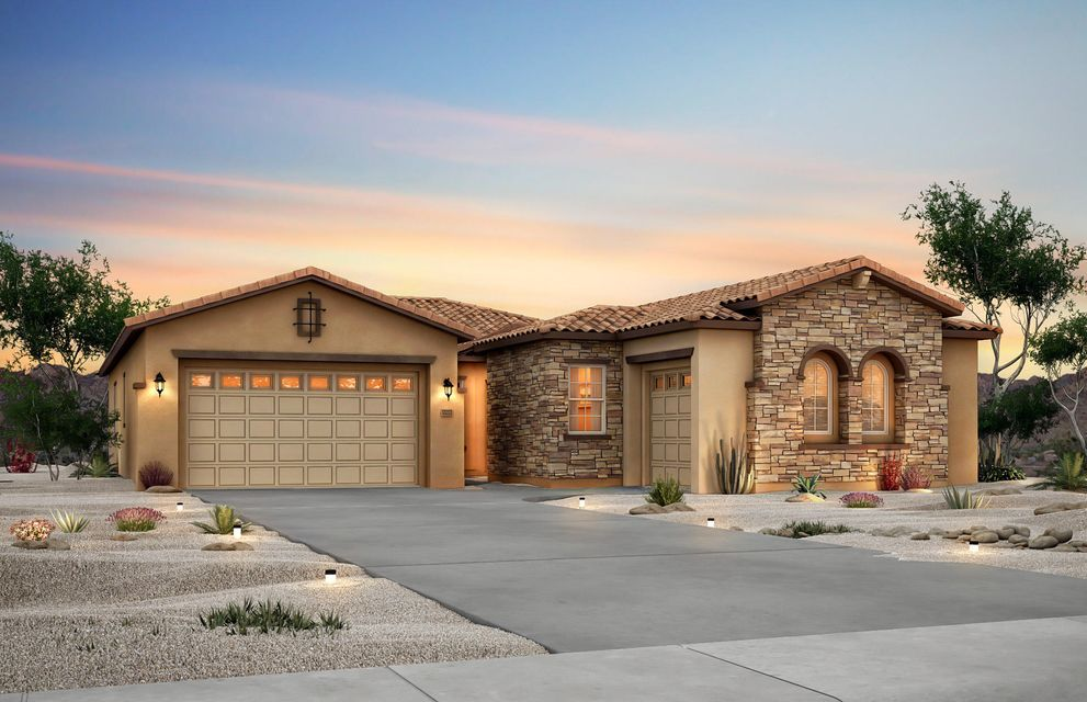 This stunning Catalina home design by Pulte is currently under construction and will be complete August 2018. The open floor plan has a gourmet kitchen that flows into the gathering room and cafe. The kitchen features White Icing cabinets complemented by beautiful granite counter tops. The kitchen is complete with stainless-steel appliances and a built-in Whirlpool(r) gas cooktop. The owner's suite has a bay window and private spa-like bathroom with a soaker tub. The guest suite includes a separate guest living area, a full bathroom, and a walk-in closet. A finished two-car garage is perfect for storing your vehicles out of the elements. Save money on your monthly utility bills in this energy-efficient home that is built to New Mexico Green Build Standards.
