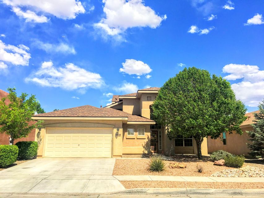 This beautiful 4 bedroom 2.5 bathroom home is located in the desirable Ventana Ranch Community. Home has been lovingly maintained and features an open floor plan with raised ceilings, hardwood floors, fresh paint, plenty of storage, and new roof that was installed in 2017! Kitchen offers corian countertops, a large island, stainless steel appliances, and tile flooring. Enjoy a large master bedroom that is conveniently located downstairs. Master bathroom includes double sinks, garden tub, separate shower, and walk in closet! The neighborhood boasts with walking trails, parks, and community pool. Call today and make this lovely home yours!