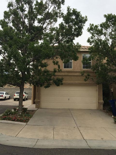 End unit in Amberglen.  Fresh paint, new carpet, great floorplan with all living/dining 1/2 bath down and 3 spacious bedrooms with nice separation and 2 full baths up.  Some views. Private, small backyard with EZ care gardens and walking path to slider.  Super location convenient to shops, dining, parks and CNM.  All appliances stay including newer front load W/D.  Make your best deal today!