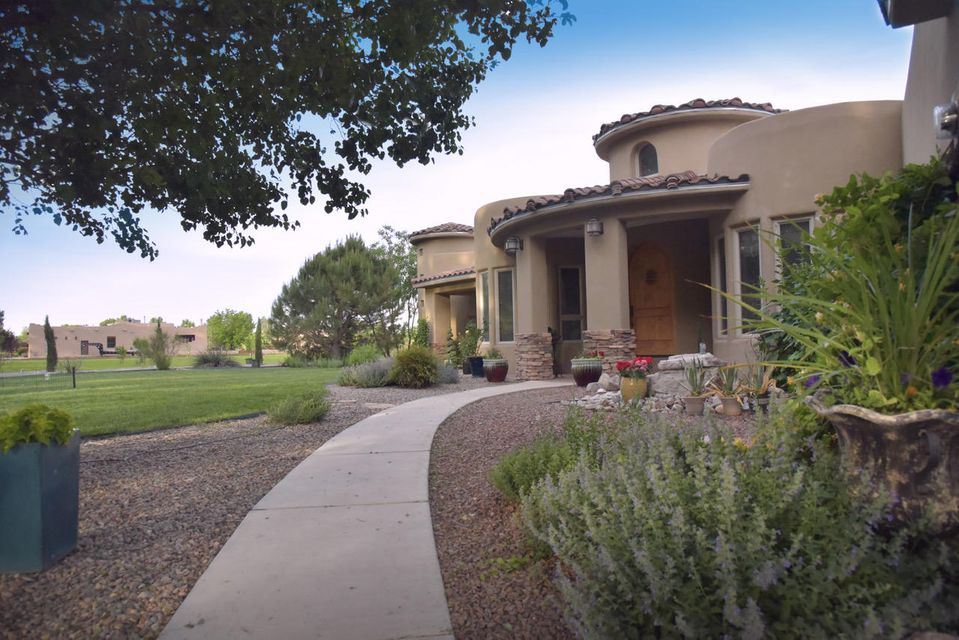 Gorgeous Home In A Lovely Gated Area.  Set in the Heart of the Green Belt with Protected Open Space.Situated on Two Irrigated Acres with Mature Plantings and Trees, an Inviting In- Ground Pool and Spacious Patio Perfect for Entertaining. Interior Features have Much to Offer: Lots of Skylights, Elevated Ceilings,Hickory Cabinets, Granite Countertops, Gourmet Kitchen, Breakfast Nook, Formal Dining Room Large Living Room with Fireplace, Game/Media Room with Surround Sound AND An Absolutely Luxurious Master Suite with TWO Huge Closets; Custom Snail Shower and Jetted Tub. Two other Jack and Jill Bedrooms are Split from the Master and Fourth Bedroom doubles nicely as an office. Advance Appointment is Required to view this Property.Professional Photos by Thomas Weigand.