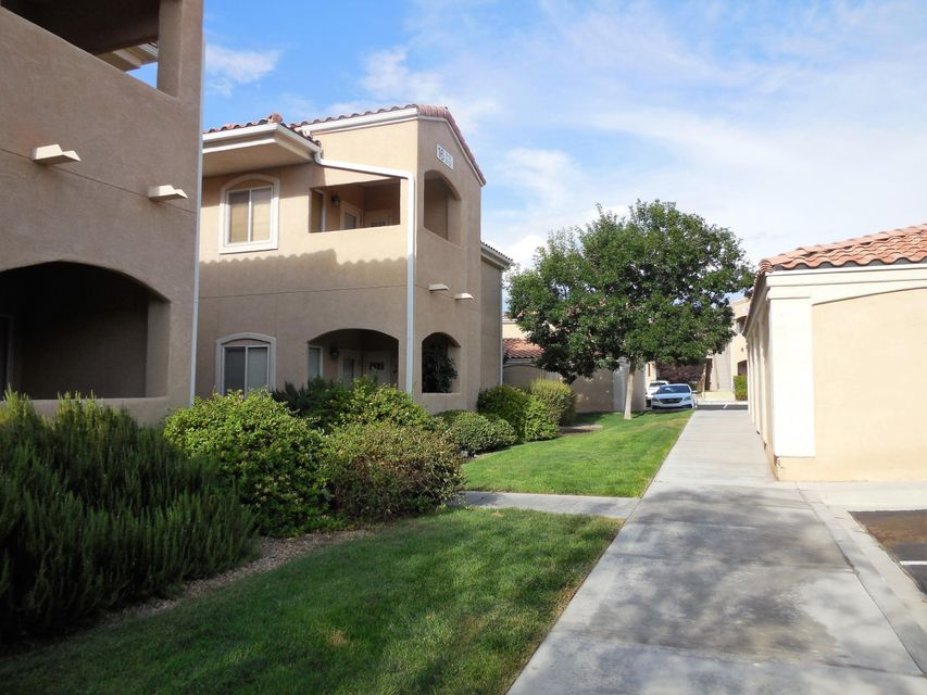 This 3-bedroom upstairs condo with open floorplan is ready for its new owner! Condo is located in the Rancho Mirage gated community! Kitchen has new stainless steel refrigerator, gas range, range hood and dishwasher. Home has refrigerated air and fresh paint throughout. Master bath has double sinks. Washer and dryer  convey. There is a single car garage and an additional assigned parking space. The community has lovely walking trails, a clubhouse, swimming pools and parks.
