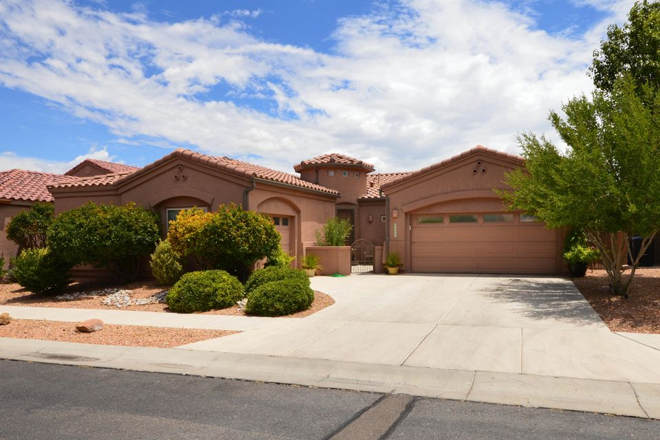 Located in the gated Oxbow North community, this lovely home has a bright open floor plan with a large great room. Kitchen has beautiful granite countertops, gas cook-top, builtin microwave, island and pantry. Spacious master suite has large walk-in closet and bath with dual sink vanity, claw foot tub and separate shower. Two additional bedrooms and bath separate from master. Additional features include lighted nichos, bull nose corners and built-in audio system. Home has a 3 car garage and beautiful backyard with lawn and covered patio.