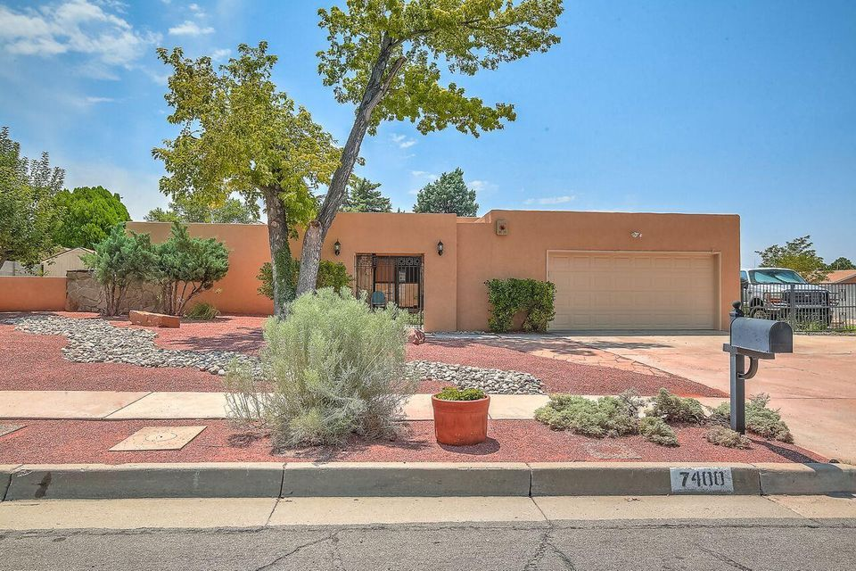 Don't miss out on this great Mossman-home that is in the great Bear Canyon neighborhood and sits on a large corner lot with backyard access. Plenty of room to add a pool or workshop or both! The front yard was just re-landscaped. The home is freshly painted. The carpet was replaced in June. You will enjoy the great sunroom that is heated and cooled. The home comes equipped with stainless appliances and two heat/cool combo refrigerated air units to keep it cozy in the winter and cool in the summer, one which was replaced in late 2017. It has an oversized 2 car garage. With a good 3 wood you could probably reach Arroyo Del Oso golf course.The seller also has the original blueprints on the home.