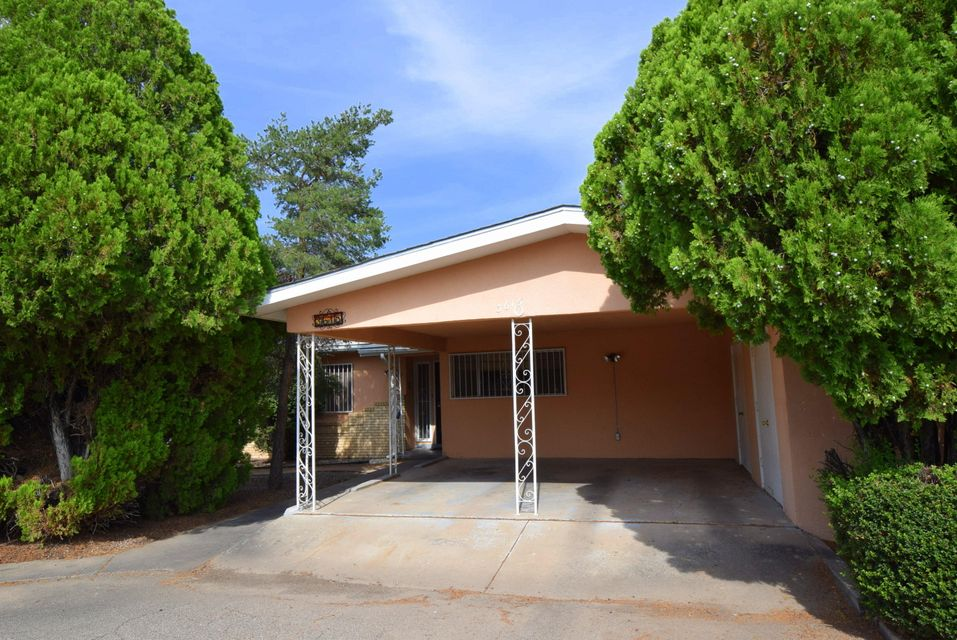 Welcome Home! Live in the North Valley. Single story one owner home on landscaped .33 acres of fruit trees & mature trees. Views of the Sandia Mountains from your front yard. Easy walk to Bosque Trails to the west of you.Close to Nature Center.