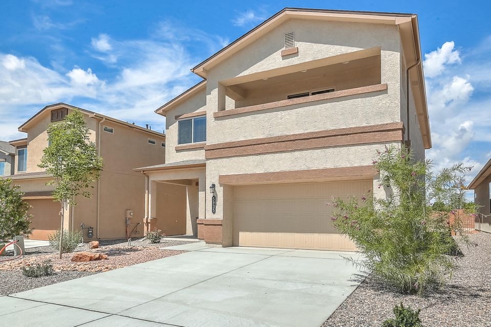Nobody has ever lived int this home. This home is absolutely amazing. Spacious kitchen featuring stainless appliances, luxury granite counter tops, large island, & large walk-in-pantry. The Kitchen is Open to the dining nook and living room. The owner's suite sports a Veranda balcony with views of the Sandia Mountains, and the AMAZING master bath with over sized Terrazzo tiled shower will perfectly pamper you. Double raised vanities are delightful and the HUGE walk-in closet includes upgraded shelving. The loft is perfect for games or lounging.  Certified Green Build NM Efficiency, w/Refrigerated Air, tankless Water Heater, 2x6 construction, & blown-in insulation.  One bay of the garage is 27' 11''.  Paradise Hills Park, Pool, & Community Center are just north of Paradise Hills