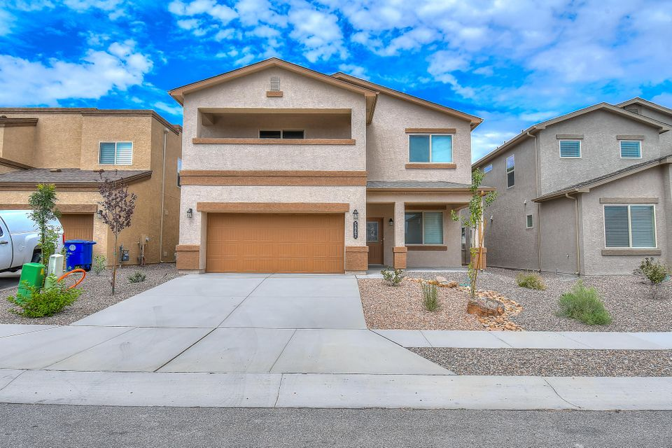 Brand new certified Green Build DR Horton home, with HOME WARRANTY from DR Horton.  Beautiful Roark floorplan with gorgeous wood plank tile throughout most of the first floor.  Amazing kitchen with huge island, glass tile backsplash, and large pantry.  Formal dining and study downstairs as well.  Oversized two-car garage.  Master suite is a homeowners dream with a closet that could be a fifth bedroom.  Balcony off master with partial mountain view.  Large loft upstairs for extra family entertainment.  Efficient tankless water heater provided hot water throughout the day.  Separate thermostats for upstairs and down providing the convenience to keep the home at a comfortable temperature throughout!  Must see in Cibola school district.