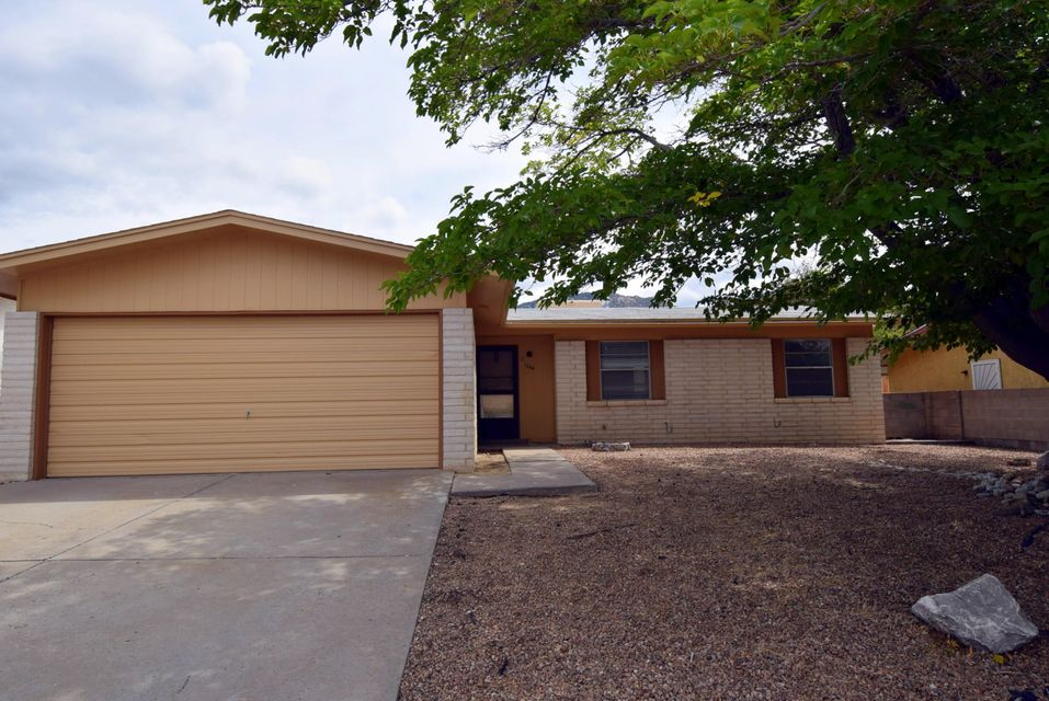 This great home is in one of Albuquerque's most livable neighborhoods.  Walking distance to Trails, Bus Pick up and Nature. Fresh outside paint, roof being installed, professionally cleaned open floor plan. Big Back yard waiting for your Green Thumb to create the paradise of your dreams.