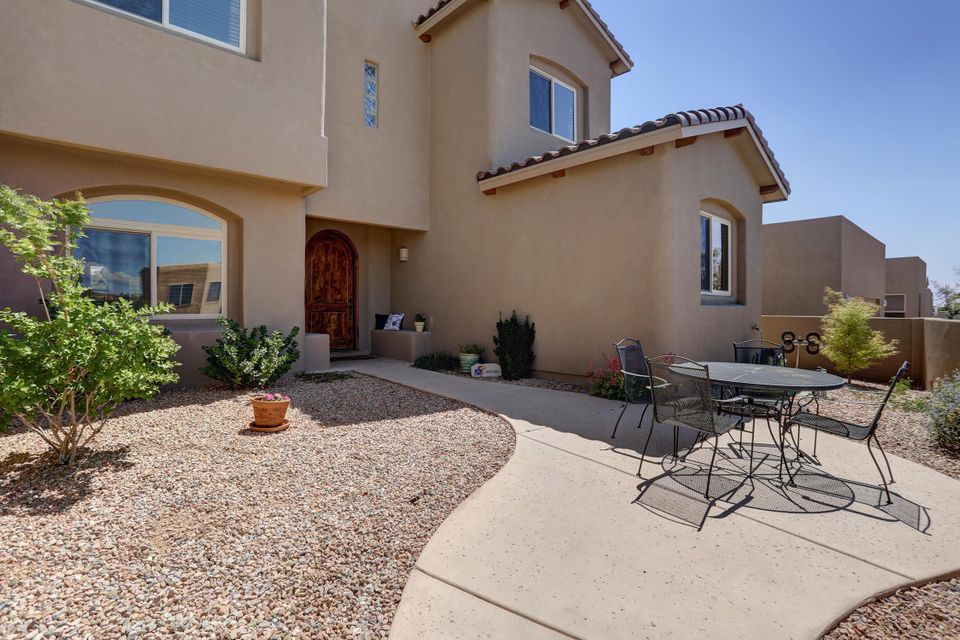 Open House Sunday 9/23 From 1 pm to 3 pm * This Is The One You've Been Waiting For! * Stunning Newer (2013) Tiara Home with Four Bedrooms, Three Baths and a THREE CAR GARAGE (Tandem) On the Perfect Sized Lot * Northstar/Desert Ridge/La Cueva Schools * Courtyard Entry * Beautiful Great Room with Soaring Beamed Ceilings and Hardwood Floors * Large Eat-In Kitchen with Island and Bar, Granite Counters, Stainless Steel Appliances & Corner Pantry * Formal Dining Room * Upstairs Loft is a Great Second Living Area or Close It In for a 5th Bedroom * Master Suite with View Deck, Separate Shower, Separate Tub * Downstairs Guest Bedroom with Separate Bath and Two Additional Bedrooms Upstairs Share A Bath * Upstairs Laundry Room * Finished Garage with Workshop Area * Refrigerated Air * Great Views!