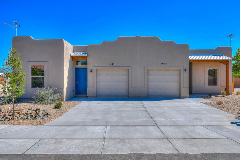 Located in the highly desirable North Valley! Get your foot in the door in The Valley at a low price, Brand new construction, conveniently located with close accessibility to the freeway and walking distance to the nature center, parks, and Blue Ribbon school districts. Very close to Old Town, Downtown, and Nob Hill. Location, Location, Location!Perfect for college students, investors, Multi-generational families, starter families, single professional, or retired couple. A much sought-after but rarely available quality built home is offered with amenities to improve your living pleasure. This eye-pleasing home is blessed with...  Granite Counters, Stainless Steel Appliances, Refrigerated Air, 9' Ceilings, Skylights, beautiful tile, Garden Tub,